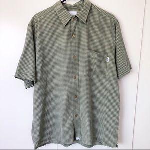 O'Neill Men's Shirt Button Down Short Sleeve Green